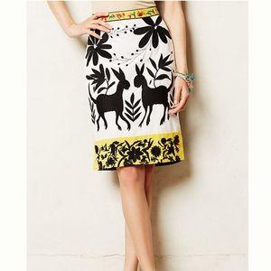 Rare NWT Anthropologie Sonja Embroidered Skirt 4